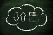 Cloud computing data transfers — Stock fotografie