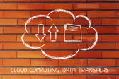 Cloud computing data transfers — Stock Photo