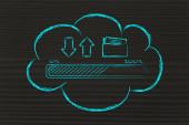 Cloud computing transfery danych — Zdjęcie stockowe