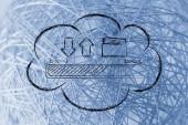 Les transferts de données informatiques en nuage — Photo