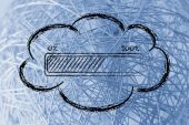 Cloud computing data transfers — 图库照片