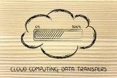 Transferência de dados de computação em nuvem — Fotografia Stock