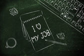 Documents saying I love my job — Foto de Stock