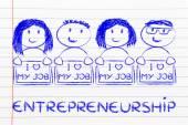 предприниматели, держащие группы — Стоковое фото
