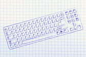 Illustration of qwerty computer keyboard — Stock Photo