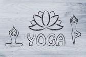 Yoga inspired illustration — Stock Photo