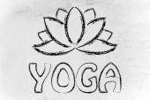 Yoga & lotus flower illustration — Stock Photo
