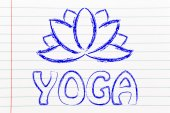 Yoga & lotus flower illustration — Foto de Stock
