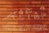 Yoga inspired illustration — Stok fotoğraf
