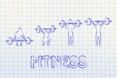 Fitness and strength training — 图库照片