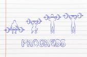 Fitness and strength training — Stockfoto