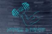Fitness and strength training — ストック写真
