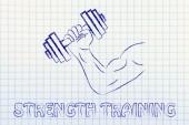 Fitness ve vücut geliştirme — Stok fotoğraf