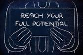 Ihr volle Potenzial zu erreichen — Stockfoto