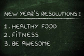 New year's fitness resolutions — Stock Photo