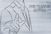 How to reach success sign — Foto Stock
