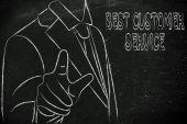 Best Customer Service sign — Стоковое фото