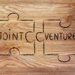 Jigsaw puzzle with the words Joint Venture — Stock Photo #66095699