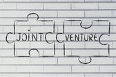 Jigsaw puzzle with the words Joint Venture — Stock Photo