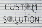 Concept of choosing custom solutions — Stock Photo