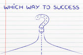 Which way to success illustration — Stock Photo