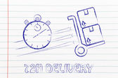 Fast 72 hours delivery illustration — Stock Photo