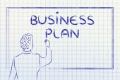 Teacher or ceo explaining about business plan — Stock Photo