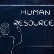 Teacher or ceo explaining about human resources — Stock Photo #66985569