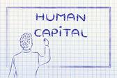 Učitel nebo ceo vysvětlení o lidský kapitál — Stock fotografie