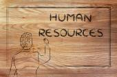 Teacher or ceo explaining about human resources — Stock Photo