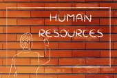 Teacher or ceo explaining about human resources — Stockfoto
