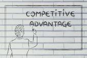 Teacher or ceo explaining about competitive advantage — Stock Photo