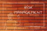 Teacher or ceo explaining about risk management — Foto Stock