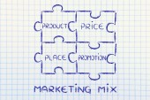 The elements of marketing mix — Stock Photo