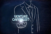 Business man holding the word Venture Capitalist — Stock Photo