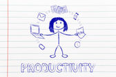 Productivity and multitasking concept — Stock Photo