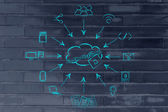 Concept of big data processing and cloud computing — Stock Photo