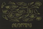 Corporate auditing procedures concept — Stock Photo