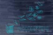 Accounting procedures concept — Stock Photo