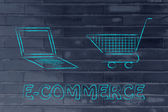 Concept of e-commerce and online shopping — Stock fotografie