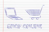 Concept of e-commerce and online shopping — Stock Photo