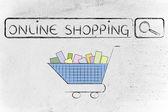 Concept of e-commerce and online shopping — ストック写真