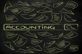 Researching about accounting — Stock Photo