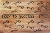 Search engine bar with tags about finding the key to success — Stock Photo