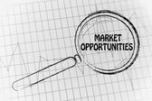 Market opportunities with business graph — Stock Photo