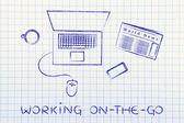 On line en op afstand werken — Stockfoto