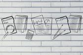 Business documents illustration — Stock Photo