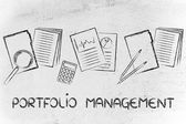 Portfolio management: folder, stats and budget — Stockfoto