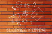 Business lunch or coffee break illustration — Stock Photo