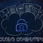 documentos informáticos, divertidos encima de una nube en la nube — Foto de Stock   #72528693